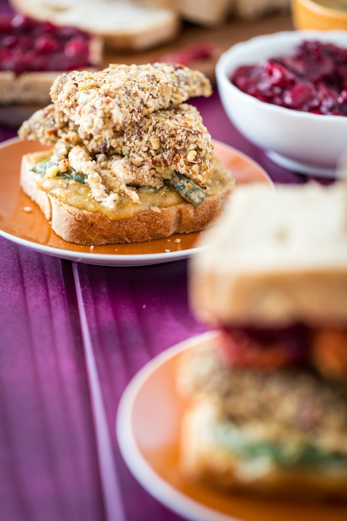 Vegan, Gluten-Free Thanksgiving Leftovers Sandwich