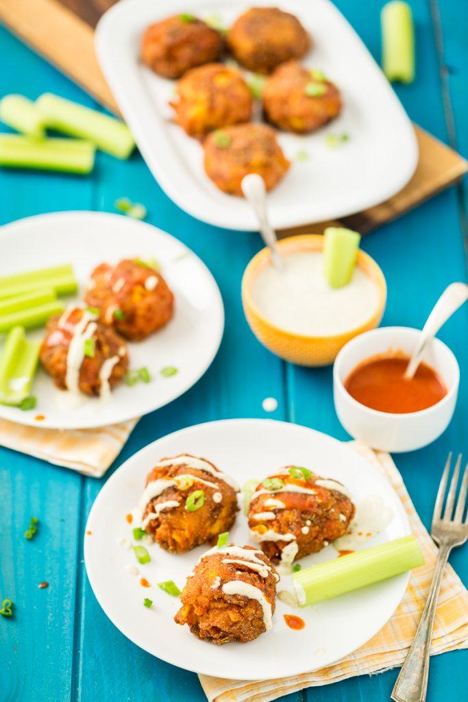 Gluten-Free, Vegan Buffalo Mac n' Cheese Balls