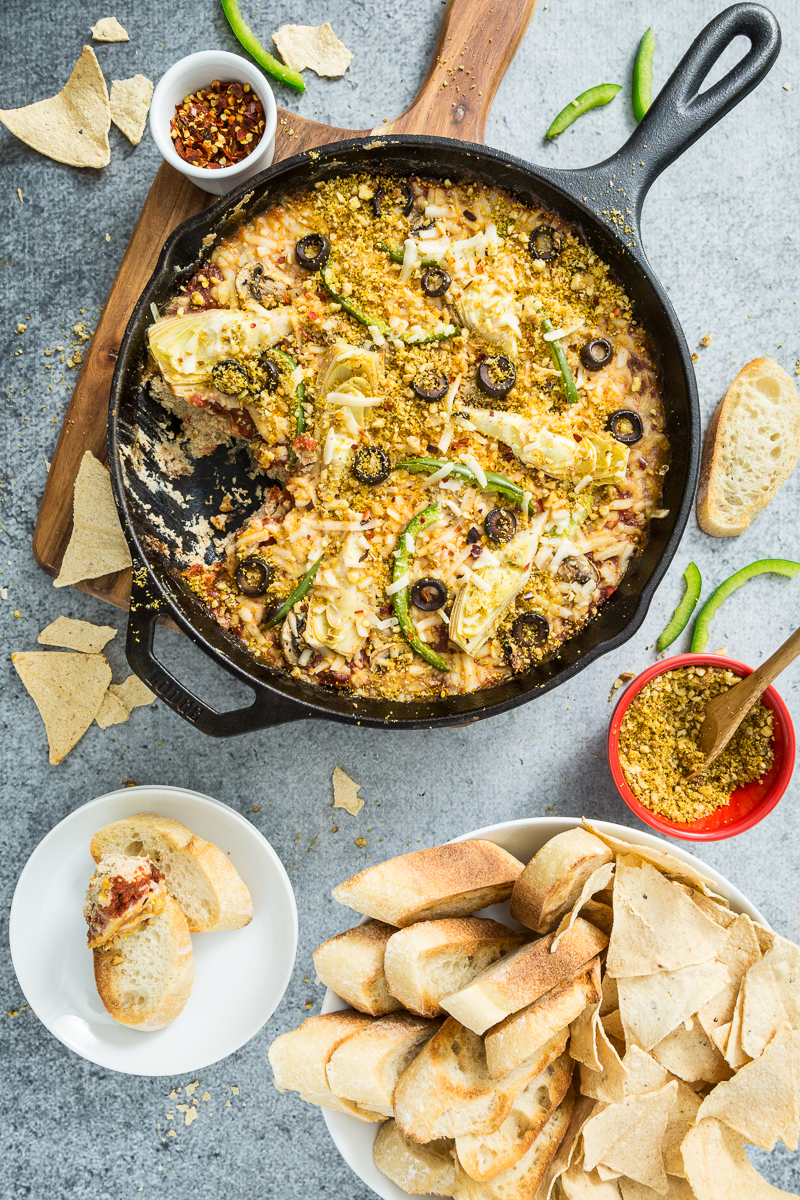Oven-Baked Pizza Dip