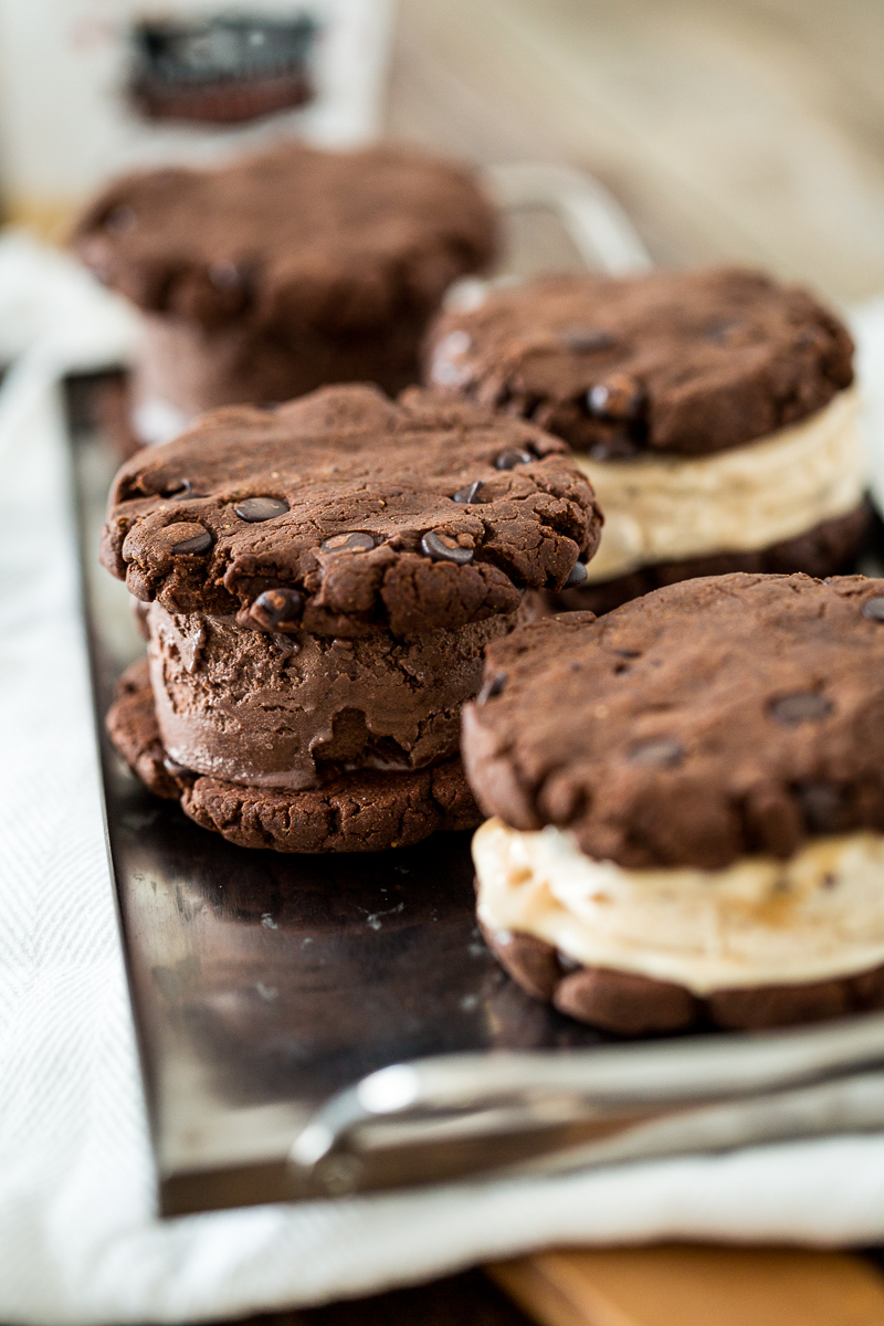 Easy, Gluten-Free, Vegan Ice Cream Sandwiches