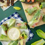 Vegan BLT Spring Rolls with Avocado