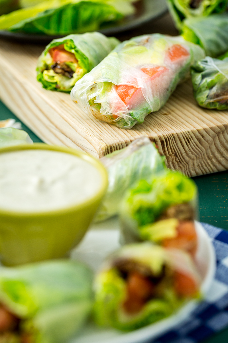 Vegan BLT Spring Rolls with Avocado