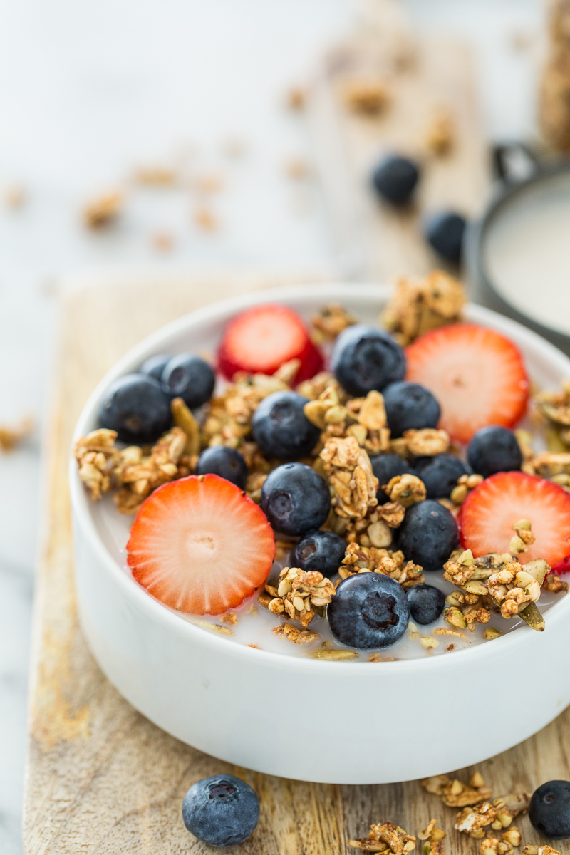 My Favorite Crunchy Buckwheat Granola with Hemp Seeds