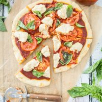 Vegan Margherita Pizza with Gluten-Free Pizza Crust