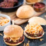 Simple Korean Kimchi BBQ Burgers from Mastering The Art of Vegan Cooking + A GIVEAWAY!