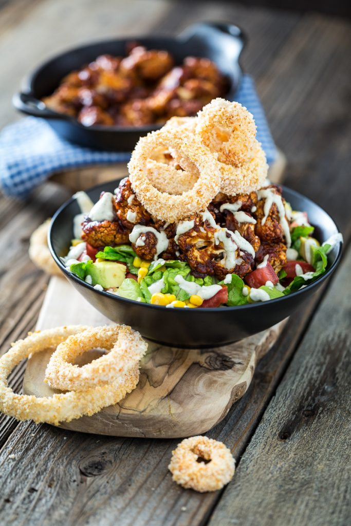 BBQ Cauliflower Salad with Zesty Ranch Dressing