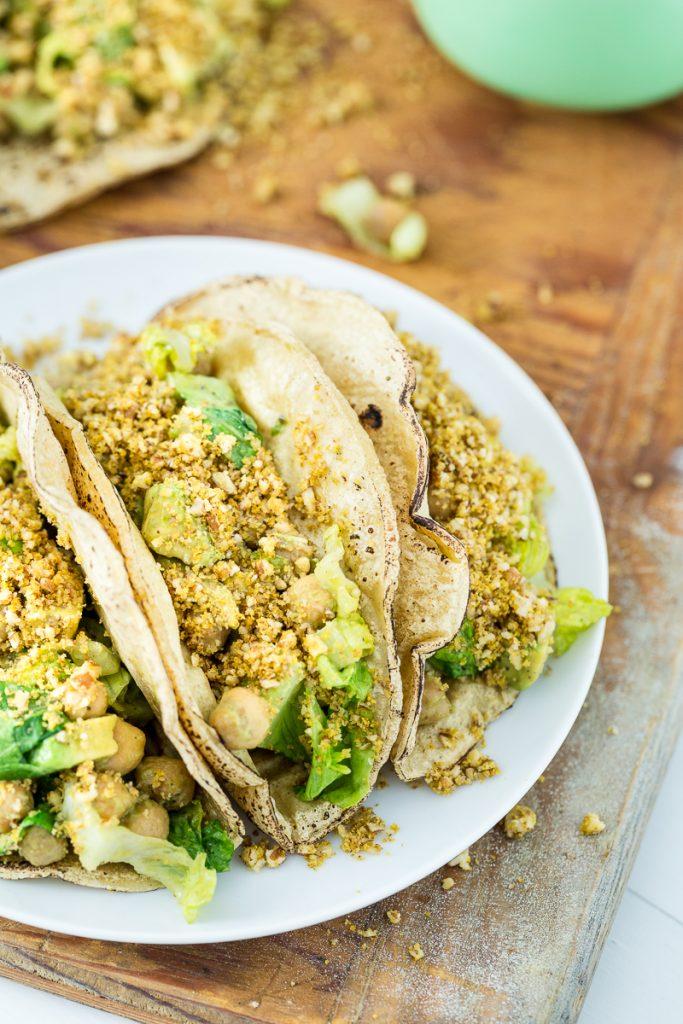 Chickpea Caesar Salad Tacos