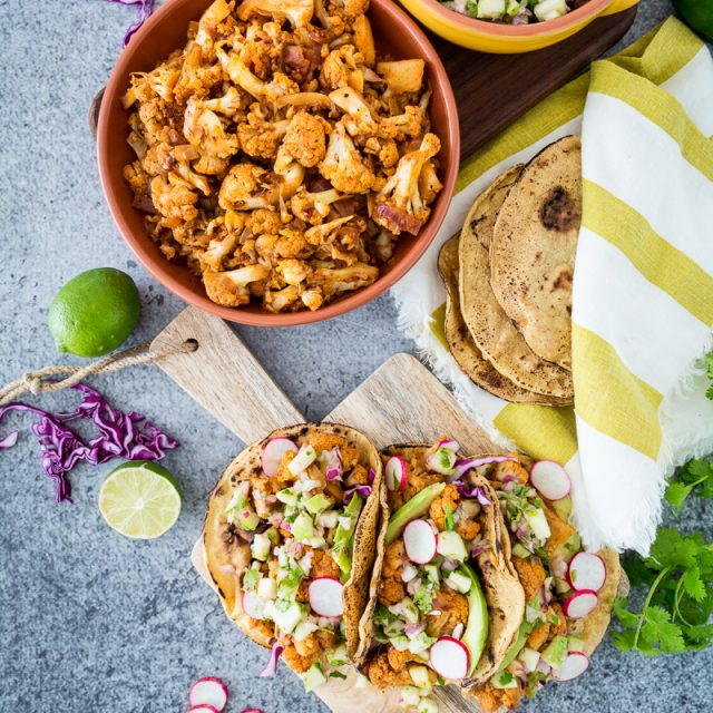 Chipotle Cauliflower Carnitas Tacos