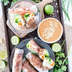 Jackfruit Vietnamese Summer Rolls with Hoisin Peanut Sauce