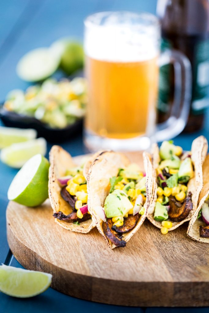 Beer-Marinated Portobello Tacos
