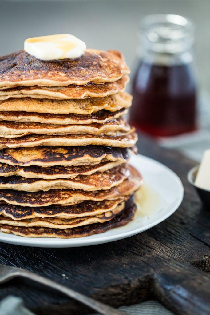 Maple Peanut Butter Pancakes