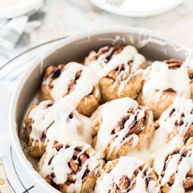 Gluten Free Vegan Cinnamon Rolls with Cream Cheese Icing