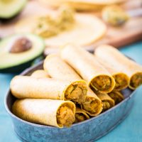 Chickpea Avocado Taquitos
