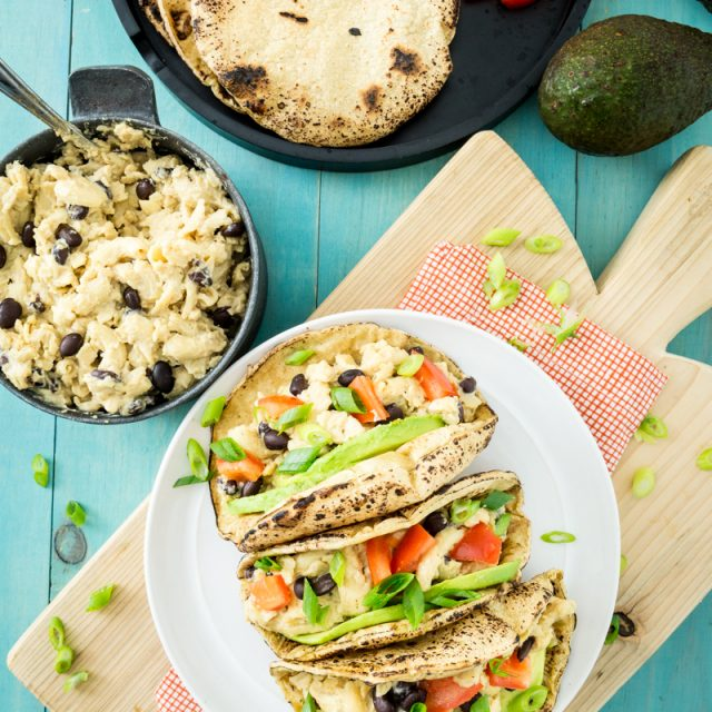 Black Bean Nacho Mac and Cheese Tacos