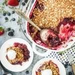 Lemon-Thyme Triple Berry Crisp