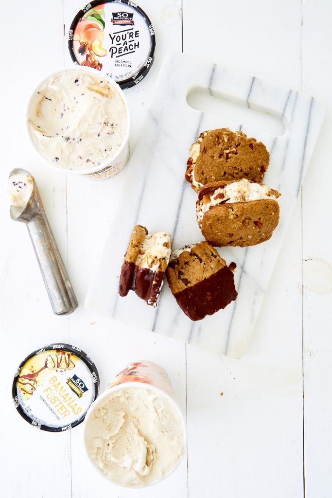 Caramel Pecan Ice Cream Sandwiches: 2 Ways