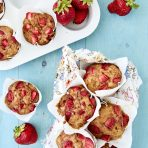 Super-Powered Strawberry Banana Muffins